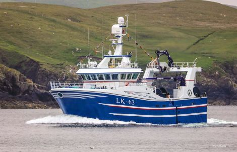 The Tranquliity arriving at Whalsay on Sunday. Photos: Ivan Reid