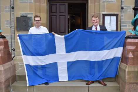 Newly elected MSYP Dylan Morrish (right) with sitting MSYP Sonny Thomason.