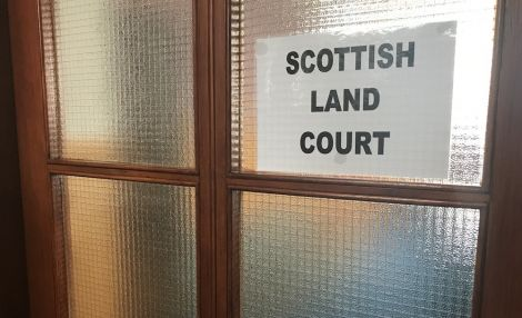 The Scottish Land Court was sitting in the islesburgh Community Centre