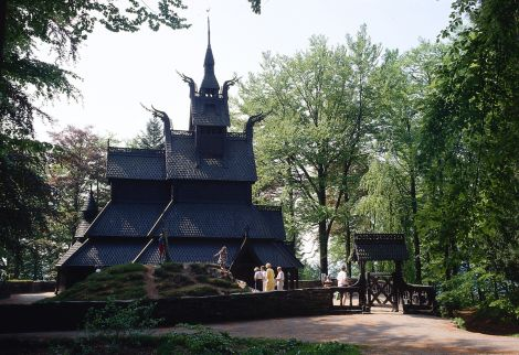 The Fantoft Stave Church. Photo: Bergen Reiselivslag / Per Nybø - visitBergen.com