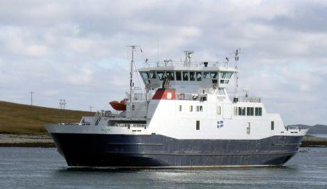 The Shetland Islands Council ferry Dagalien.