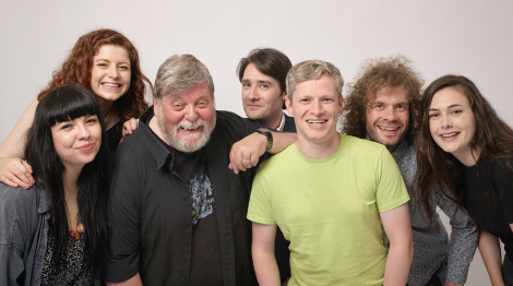 The Imposters' full line-up, from left to right: Ashlea Tulloch, Jill Charleson, Les Sinclair, Alex Garrick-Wright, Matthew Simpson, Thomas Jones, Marjolein Robertson. Photo: Liam Henderson