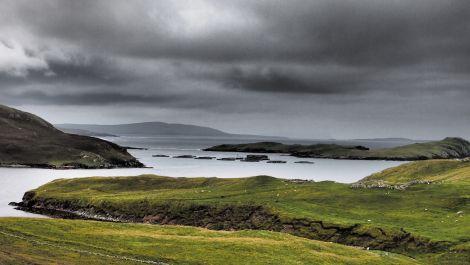 A Shetland salmon farm.