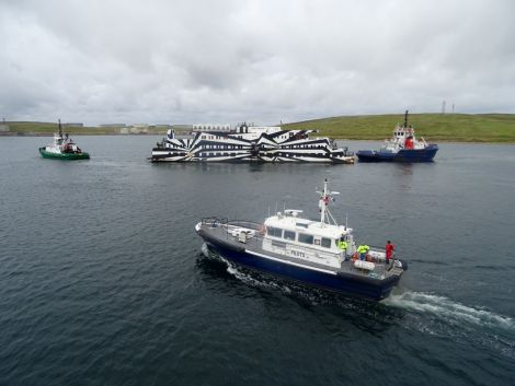 The Sans Vitesse on her way out of Shetland. Photo: John Bateson