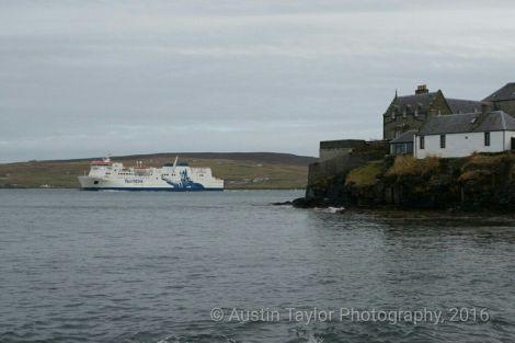 NorthLink's passenger ferry Hjaltland arriving at Lerwick. Photo: Austin Taylor