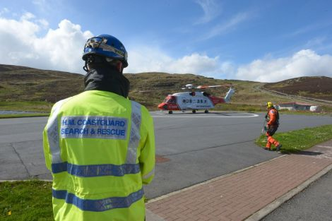 The coastguard attending to a medivac back in 2013. Photo: Malcolm Younger/Millgaet Media