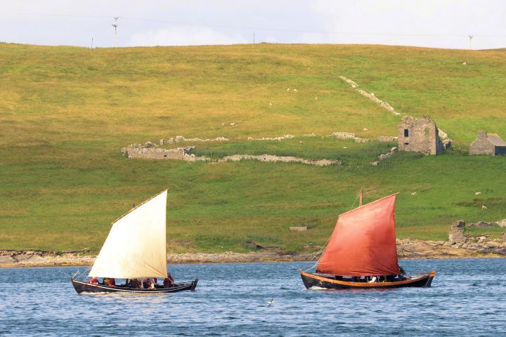 The Vaila Mae and Far Haaf in Lerwick Harbour. All photos: Shetland Amenity Trust/Shetland Boat Week